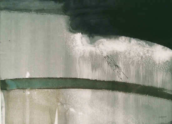 "Crack To Crevice, Edge To Dust, Watercolour, 40"" x 26"", 2010"